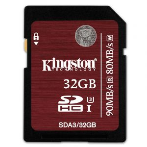 金士顿(Kingston)32GB90MB/sSDClass10UHS-I高速存储卡中国红