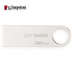 金士顿(Kingston)DTSE9H32GB金属U盘迷你型车载U盘银色亮薄