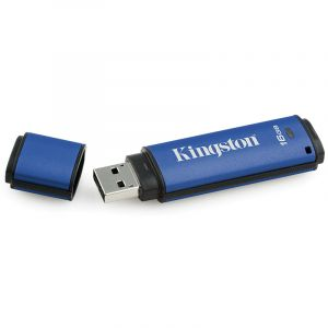 金士顿(Kingston)DTVP3016GB加密USB3.0U盘256位AES硬件加密U盘
