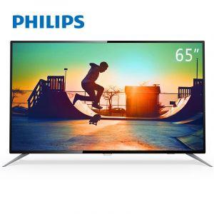 飞利浦(PHILIPS)电视机 65PUF6112/T3 65寸智能电视 二级能效 安卓系统 WIFI 有线网口 HDMI 3840*2160 配挂架 含安装 黑色
